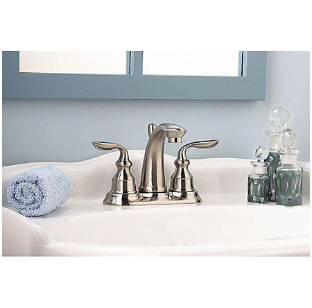 Brushed Nickel Avalon Centerset Bath Faucet - GT48-CB0K - 4