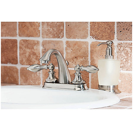 Brushed Nickel Catalina Centerset Bath Faucet - GT48-E0BK - 3