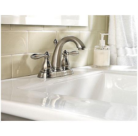 Brushed Nickel Portola Centerset Bath Faucet - GT48-RP0K - 2