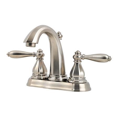 Brushed Nickel Portola Centerset Bath Faucet - GT48-RP0K - 1