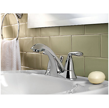 Polished Chrome Serrano Centerset Bath Faucet - LG48-SR0C - 2