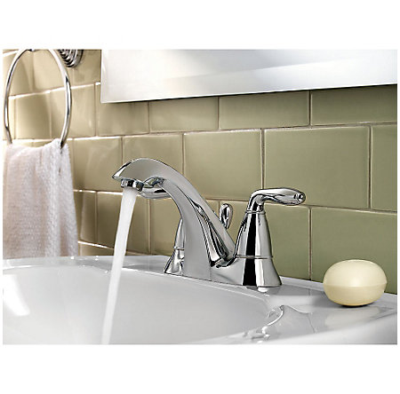 Polished Chrome Serrano Centerset Bath Faucet - LG48-SR0C - 3
