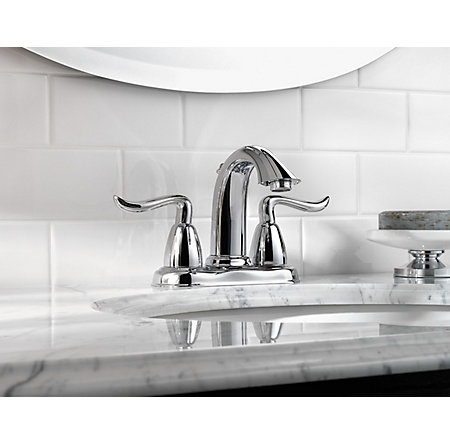 Polished Chrome Santiago Centerset Bath Faucet - GT48-ST0C - 2