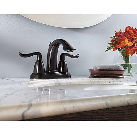 Tuscan Bronze Santiago Centerset Bath Faucet - GT48-ST0Y - 2