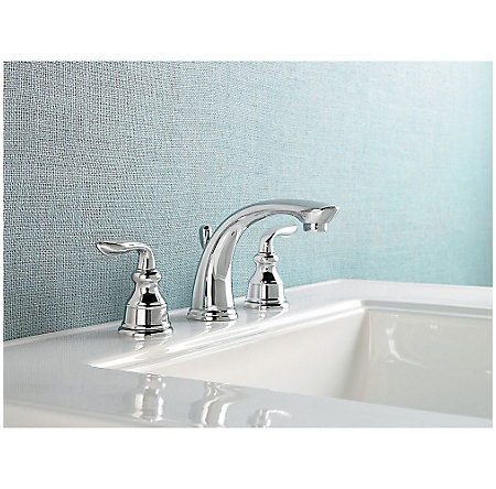 Polished Chrome Avalon Widespread Bath Faucet - GT49-CB0C - 2