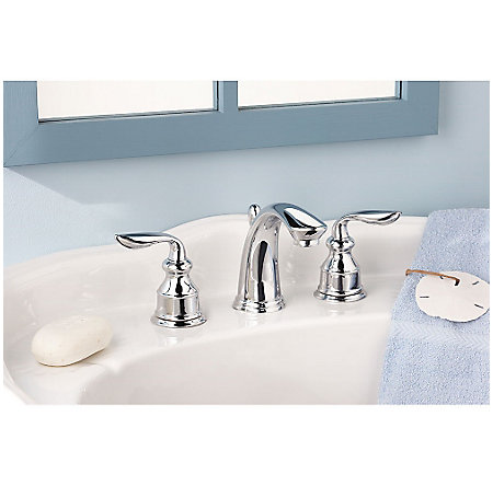 polished chrome avalon widespread bath faucet - gt49-cb0c - 3
