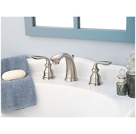 brushed nickel avalon widespread bath faucet - gt49-cb0k - 4