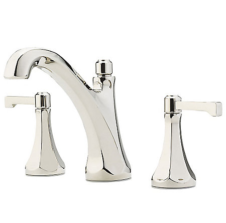 "Polished Nickel Arterra 8"" Widespread Lavatory Faucet - LG49-DE0D - 1"