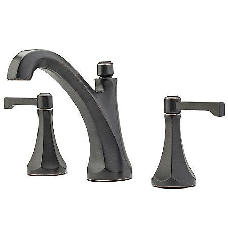 "Tuscan Bronze Arterra 8"" Widespread Lavatory Faucet - LG49-DE0Y - 1"