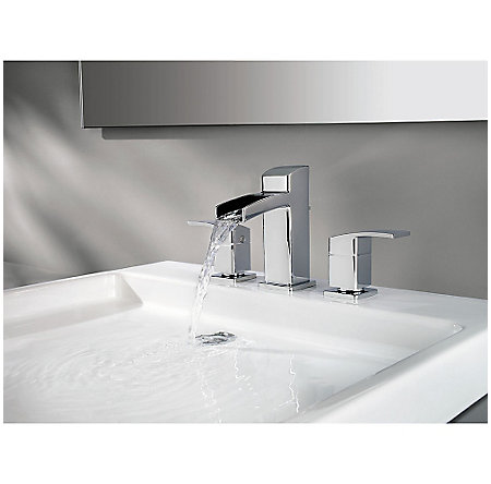 polished chrome kenzo widespread bath faucet - gt49-df0c - 4