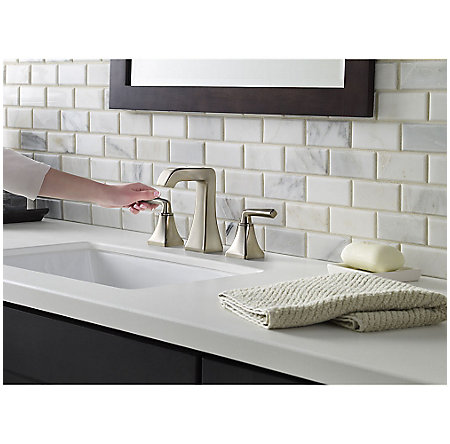 Brushed Nickel Park Avenue Widespread Bath Faucet - LG49-FE0K - 3