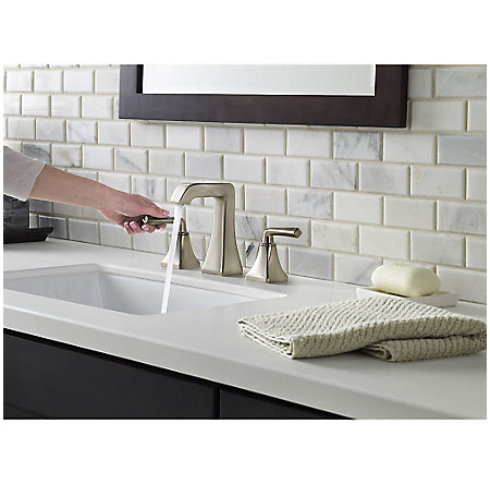 Brushed Nickel Park Avenue Widespread Bath Faucet - LG49-FE0K - 4