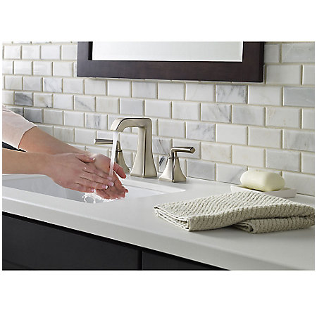 Brushed Nickel Park Avenue Widespread Bath Faucet - LG49-FE0K - 5