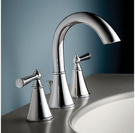 Polished Chrome Saxton Widespread Bath Faucet - LG49-GL0C - 2