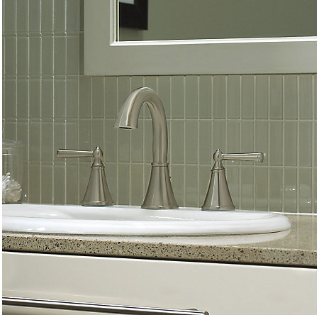 Brushed Nickel Saxton Widespread Bath Faucet - GT49-GL0K - 2