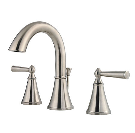 brushed nickel saxton widespread bath faucet - gt49-gl0k - 1