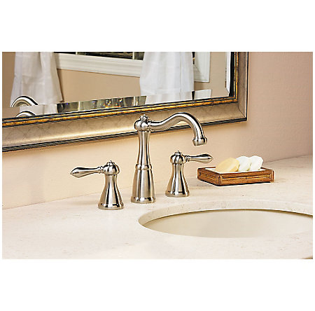 Brushed Nickel Marielle Widespread Bath Faucet - LG49-M0BK - 2
