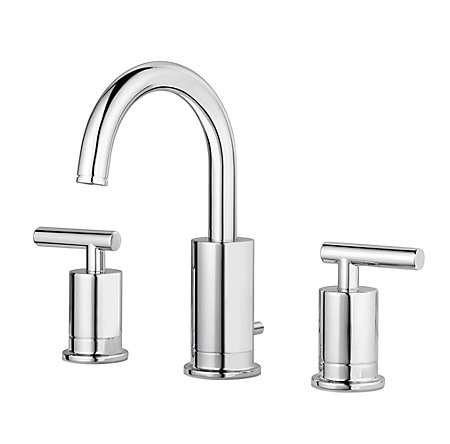Polished Chrome Contempra Widespread Bath Faucet - LG49-NC1C - 1