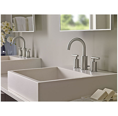 Brushed Nickel Contempra Widespread Bath Faucet - LG49-NC1K - 2