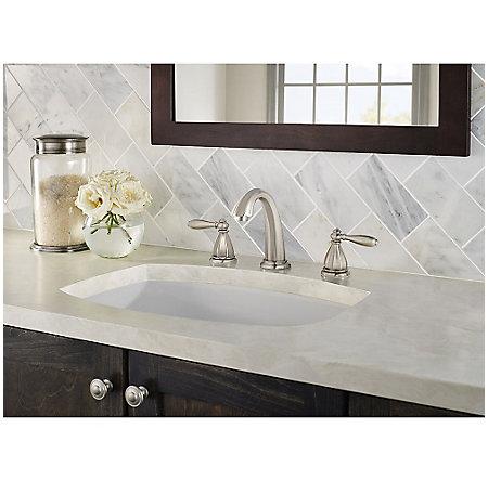 Brushed Nickel Portola Widespread Bath Faucet - GT49-RP0K - 3