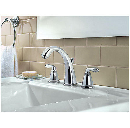 Polished Chrome Serrano Widespread Bath Faucet - LG49-SR0C - 2