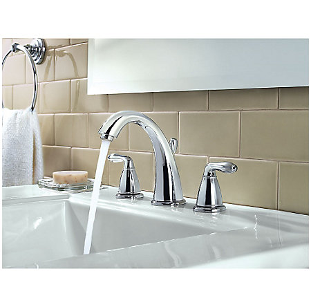Polished Chrome Serrano Widespread Bath Faucet - GT49-SR0C - 3