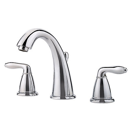 Polished Chrome Serrano Widespread Bath Faucet - LG49-SR0C - 1