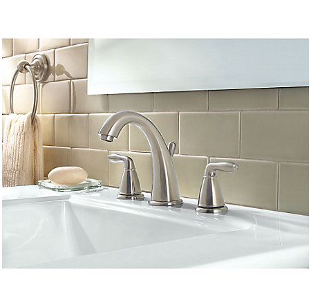 Brushed Nickel Serrano Widespread Bath Faucet - LG49-SR0K - 2