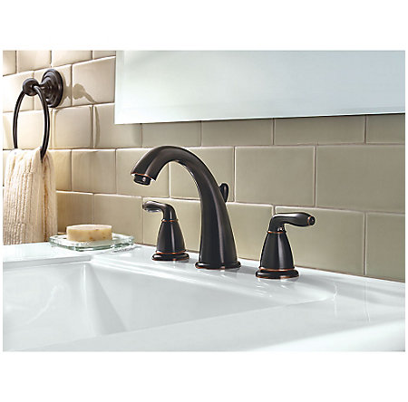 Tuscan Bronze Serrano Widespread Bath Faucet - GT49-SR0Y - 2