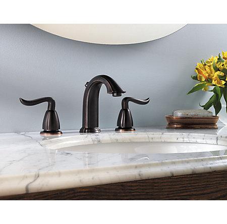 Tuscan Bronze Santiago Widespread Bath Faucet - GT49-ST0Y - 2