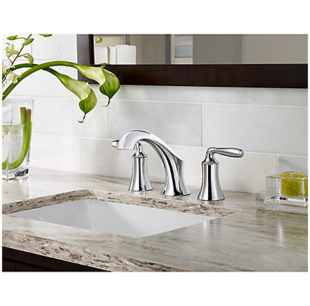 Polished Chrome Iyla Widespread Bath Faucet - GT49-TR0C - 2