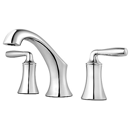 Polished Chrome Iyla Widespread Bath Faucet - GT49-TR0C - 1