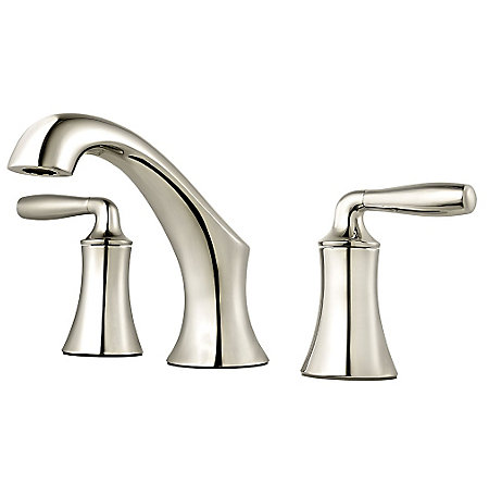 Polished Nickel Iyla Widespread Bath Faucet - GT49-TR0D - 1
