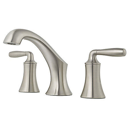 Brushed Nickel Iyla Widespread Bath Faucet - GT49-TR0K - 1