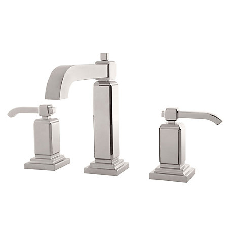 Polished Nickel Carnegie Widespread Bath Faucet - GT49-WE0D - 1