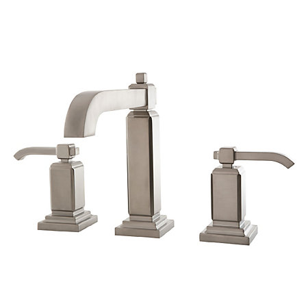 Brushed Nickel Carnegie Widespread Bath Faucet - GT49-WE0K - 1