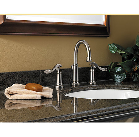 Brushed Nickel Ashfield Widespread Bath Faucet - GT49-YP0K - 2