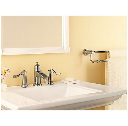 Brushed Nickel Ashfield Widespread Bath Faucet - LG49-YP1K - 3