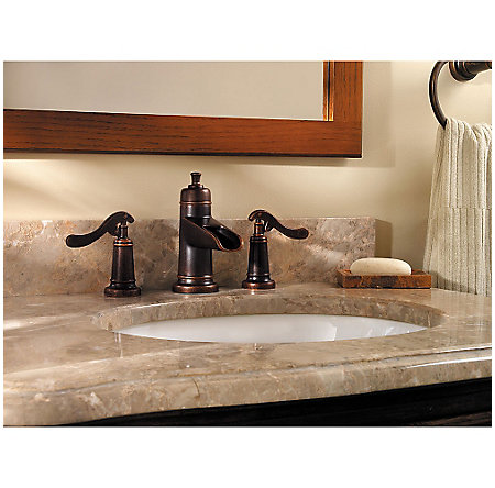 Rustic Bronze Ashfield Widespread Bath Faucet - GT49-YP1U - 2