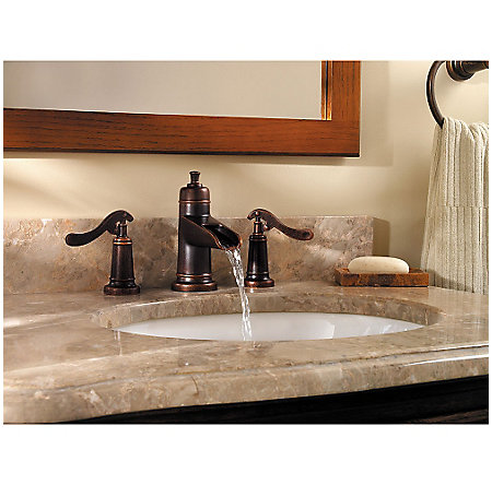 Rustic Bronze Ashfield Widespread Bath Faucet - GT49-YP1U - 3