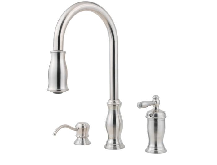marvelous Price Pfister Hanover Kitchen Faucet #2: Stainless ...