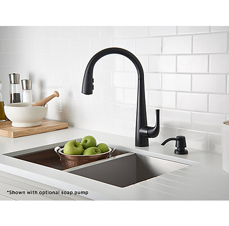 Black Alea Pull-Down Kitchen Faucet - GT529-ALB - 3