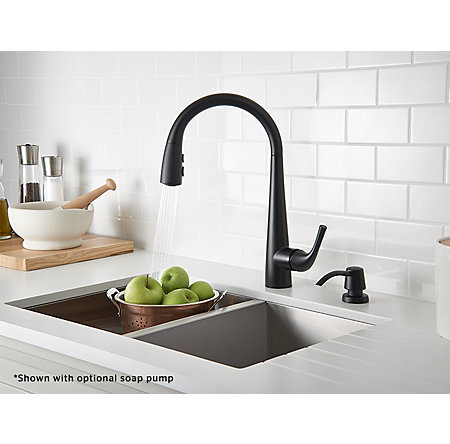 Black Alea Pull-Down Kitchen Faucet - GT529-ALB - 4