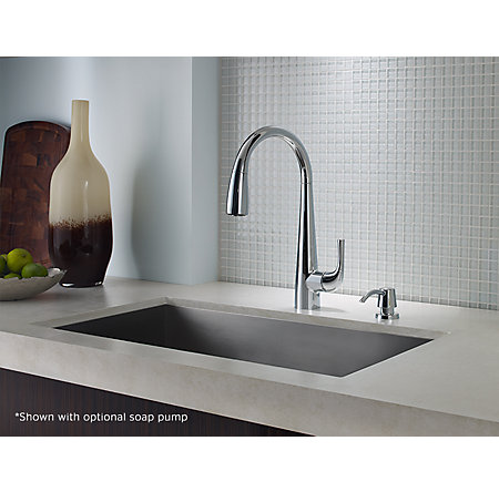 Polished Chrome Alea Pull-Down Kitchen Faucet - GT529-ALC - 4