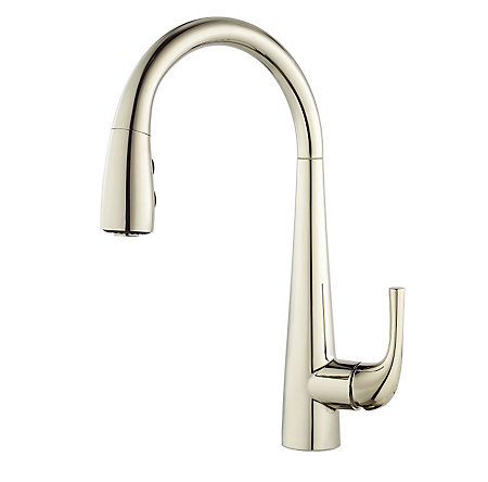 Polished Nickel Alea 1-Handle Pull Down Bar and Prep Faucet - GT72-ALDD - 1