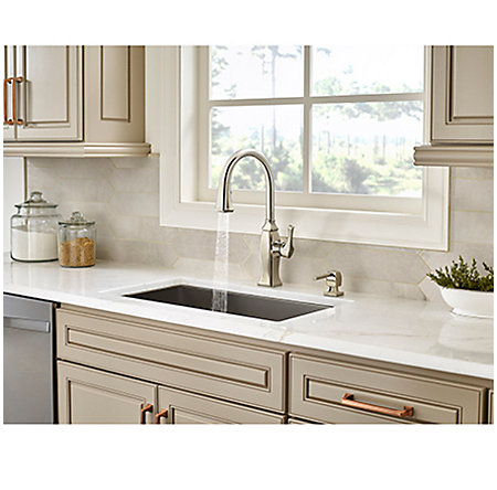 Polished Nickel Briarsfield Pull-Down Kitchen Faucet - GT529-BFD - 5