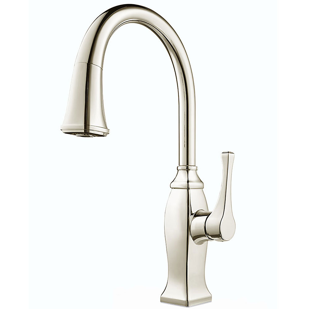 Polished Nickel Kitchen Faucet Polished Nickel Briarsfield Pull Down Kitchen Faucet Gt529 Bfd