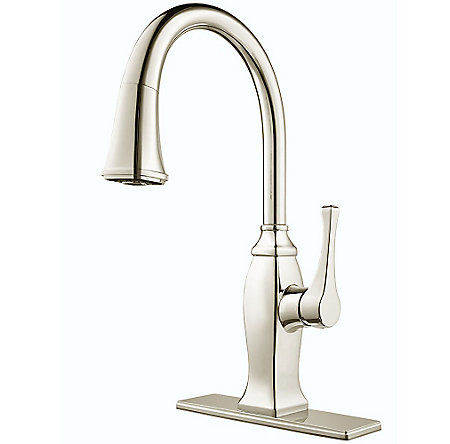 Polished Nickel Briarsfield Pull-Down Kitchen Faucet - GT529-BFD - 2