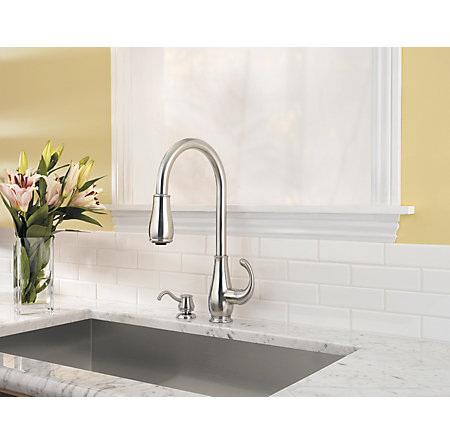 Stainless Steel Treviso 1-Handle, Pull-Down Kitchen Faucet - GT529-DSS - 2