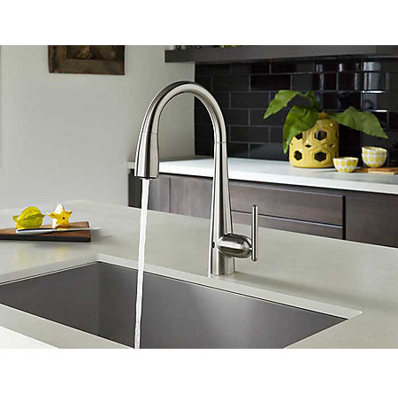 Stainless Steel Lita Touch-Free Pull-Down Kitchen Faucet with React™ - GT529-ELS - 3